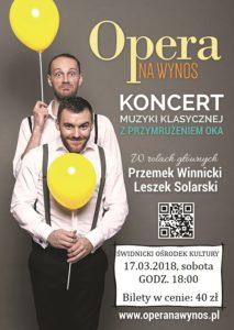 Opera na wynos [spektakl muzyczno-kabaretowy] @ Teatr w Świdnicy | Świdnica | Województwo dolnośląskie | Polska