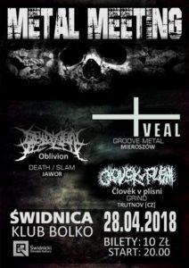 Veal, Oblivion, Člověk v Plísni [metal] @ Klub Bolko | Świdnica | Województwo dolnośląskie | Polska