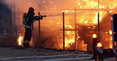 Pożar fabryki w rejonie ul. Kościuszki w Świebodzicach