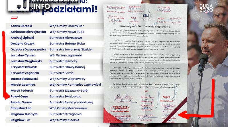 Burmistrz Paweł Ozga popiera Andrzeja Dudę, kandydata PiS na Prezydenta RP!
